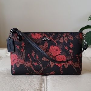 Coach Thorn Roses Large Wristlet